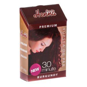 HENNA PREMIUM BURGUNDY - PULBERE 60 g, Sonia Henna