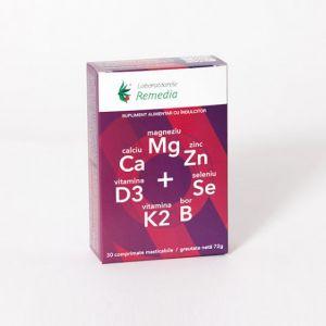 CA + MG + ZN + D3 + SE, 30 comprimate, Laboratoarele Remedia
