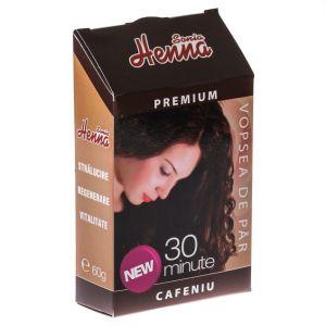 HENNA PREMIUM CAFENIU - PULBERE 60 g, Sonia Henna
