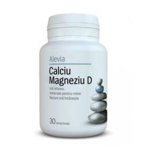 CALCIU MAGNEZIU D, 30 comprimate, Alevia