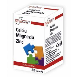 CALCIU & MAGNEZIU & ZINC, 30 capsule, FarmaClass