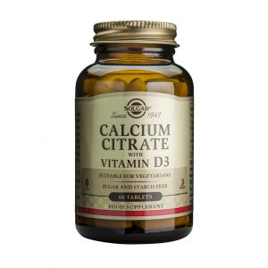 CALCIUM CITRATE 250 mg + VITAMIN D3. 60 tablete, Solgar