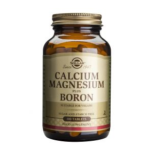 CALCIUM MAGNESIUM PLUS BORON 100 tablete, Solgar