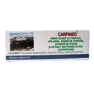 CREMA SOLIDA (SUPOZITOARE) - CARPIMED, 10 buc x 1.5 g, Elzin Plant