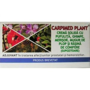 CREMA SOLIDA (SUPOZITOARE) - CARPIMED PLANT, 10 buc x 1.5 g, Elzin Plant