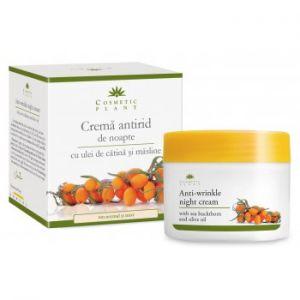 CREMA ANTIRID DE NOAPTE CU ULEI DE CATINA SI MASLINE 50 ml, Cosmetic Plant
