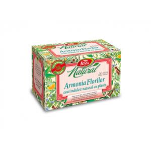 ARMONIA FLORILOR, Ceai îndulcit natural cu plante, 20 plicuri, Fares