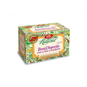 BUNA DISPOZITIE - Ceai cu lime și mandarine, 20 plicuri, Fares