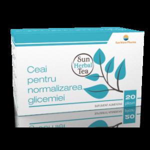 CEAI PENTRU NORMALIZAREA GLICEMIEI 20 plicuri x 2,5 g, Sun Wave Pharma