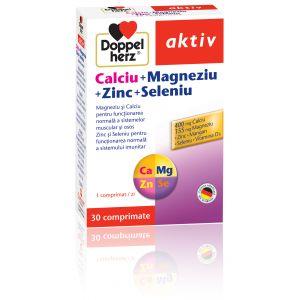 CALCIU + MAGNEZIU + ZINC + SELENIU 30 comprimate, Doppelherz Aktiv