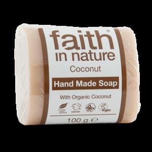 SAPUN CU NUCA DE COCOS DIN INGREDIENTE NATURALE, 100 g, Faith in Nature