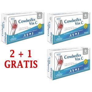 CONDROFLEX VITA C 30 comprimate, 2+1 GRATIS, Ac Helcor