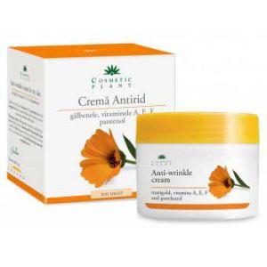CREMA ANTIRID CU GALBENELE SI VITAMINELE A, E, F SI PANTENOL 50 ml, Cosmetic Plant