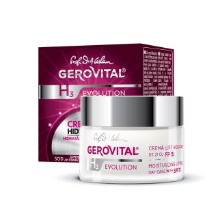 CREMA LIFT HIDRATANTA DE ZI CU FP 15 - GEROVITAL H3 EVOLUTION 50 ml, Farmec