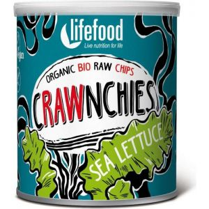 CHIPS CRAWNCHIES CU ALGE (SEA LETTUCE) RAW BIO 30 g, Lifefood