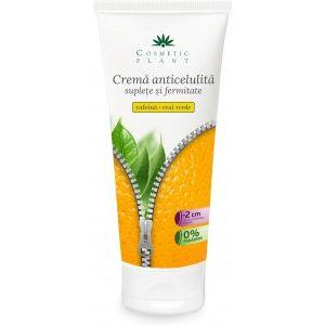 CREMA ANTICELULITA SUPLETE & FERMITATE CU CAFEINA SI CEAI VERDE 200 ml, Cosmetic Plant