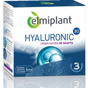CREMA ANTIRID DE NOAPTE  - HYALURONIC 3D, 50 ml, Elmiplant