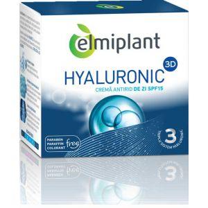 CREMA ANTIRID DE ZI SPF 15 - HYALURONIC 3D, 50 ml, Elmiplant