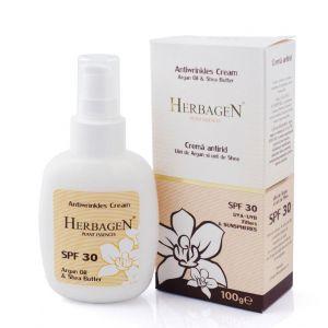 CREMA ANTIRID CU ULEI DE ARGAN SI UNT DE SHEA SPF 30, 100 g, Herbagen