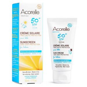 CREMA PROTECTIE SOLARA BEBE SPF 50 BIO, 50 ml, Acorelle