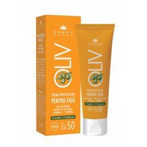 CREMA PROTECTOARE PENTRU FATA SPF 50 - OLIV 50 ml, Cosmetic Plant