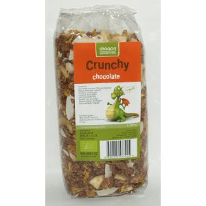 CRUNCHY CU CIOCOLATA BIO, 300 g, Dragon Superfoods