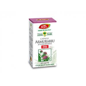 ARMURARIU SI GANODERMA D86, 60 capsule a 500 mg, Fares
