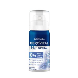 DEODORANT ANTIPERSPIRANT NATURAL GEROVITAL H3 CLASSIC 40 ml,  Farmec
