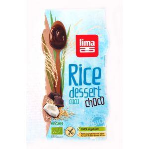 DESERT DIN OREZ CU COCOS SI CIOCOLATA FARA GLUTEN BIO 2 x 100 ml, Lima