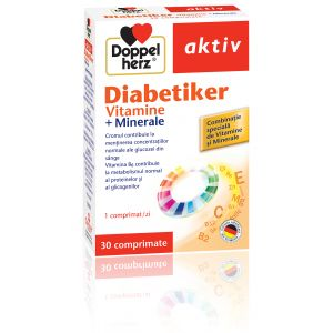 DIABETIKER VITAMINE + MINERALE, 30 comprimate, Doppelherz