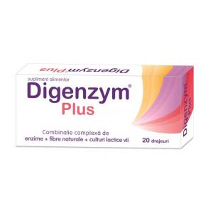 DIGENZYM PLUS 20 drajeuri, Labormed Pharma