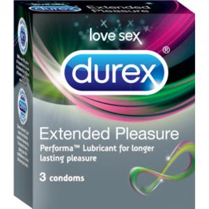 PREZERVATIVE EXTENDED PLEASURE, 3 buc, Durex