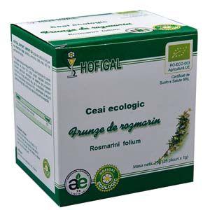 ROZMARIN - CEAI ECOLOGIC, 25 plicuri x 1 g, Hofigal