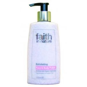 CREMA EXFOLIANTA PENTRU FATA SI CORP CU INGREDIENTE NATURALE, 150 ml, Faith in Nature