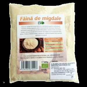 FAINA DE MIGDALE BIO 200 g, Managis Bio