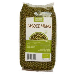 FASOLE MUNG BIO 500 g, Dragon Superfoods