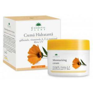 CREMA HIDRATANTA CU GALBENELE SI VITAMINELE A, E, 50 ml, Cosmetic Plant