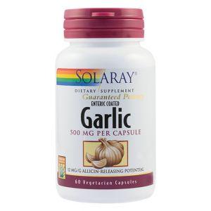 GARLIC (USTUROI) 500 mg, 60 capsule vegetale, Solaray