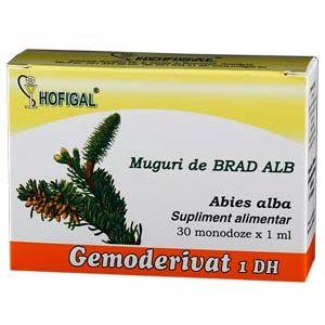 GEMODERIVAT DE MUGURI DE BRAD ALB, 30 monodoze, Hofigal