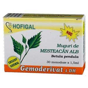 GEMODERIVAT DIN MUGURI DE MESTEACAN ALB, 30 monodoze, Hofigal