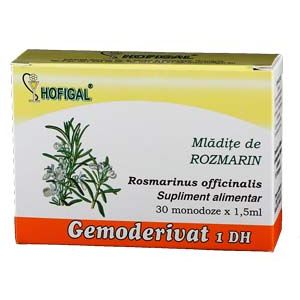 GEMODERIVAT DIN MLADITE DE ROZMARIN, 30 monodoze, Hofigal