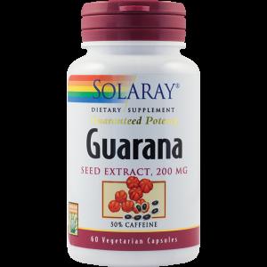 GUARANA SEED EXTRACT 60 capsule, Solaray