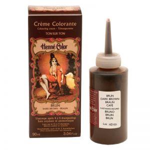 CREMA COLORANTA Brun 90 ml, Henne Color