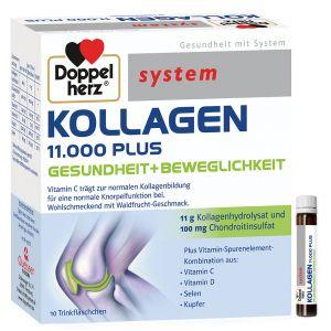 FIOLE CU COLAGEN HIDROLIZAT - DOPPELHERZ SYSTEM KOLLAGEN 11.000 PLUS, 10 fiole x 25 ml, Queisser Pharma