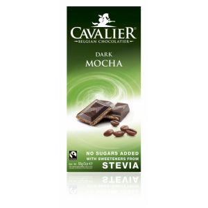 CIOCOLATA NEAGRA BELGIANA CU CREMA DE CAFEA 85 g, Cavalier