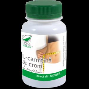 L- CARNITINA & CROM, 60 capsule, Laboratoarele Medica
