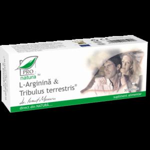 L-ARGININA & TRIBULUS TERRESTRIS , 30/60/150 capsule, Laboratoarele Medica
