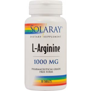 L-ARGININE 1000 mg, 30 tablete, Solaray