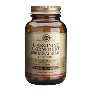 L-ARGININE L-ORNITHINE 500/250 mg, 50 capsule, Solgar