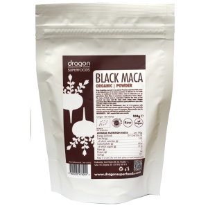 MACA NEAGRA PULBERE RAW BIO 100 g, Dragon Superfoods